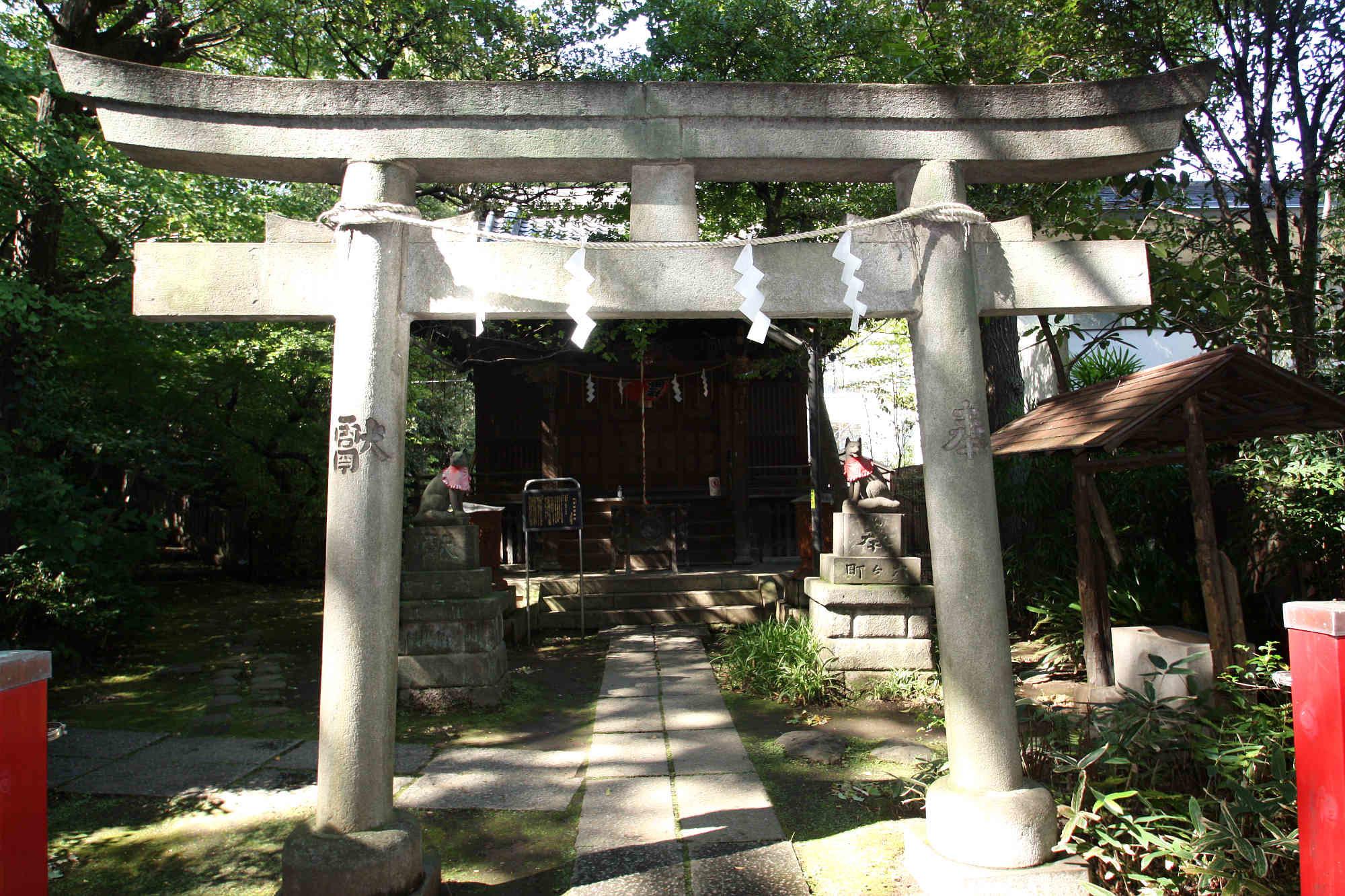 四合稲荷神社の鳥居