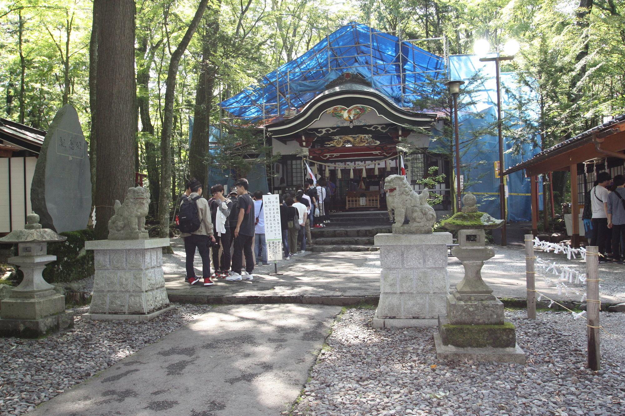 新屋山神社の本殿