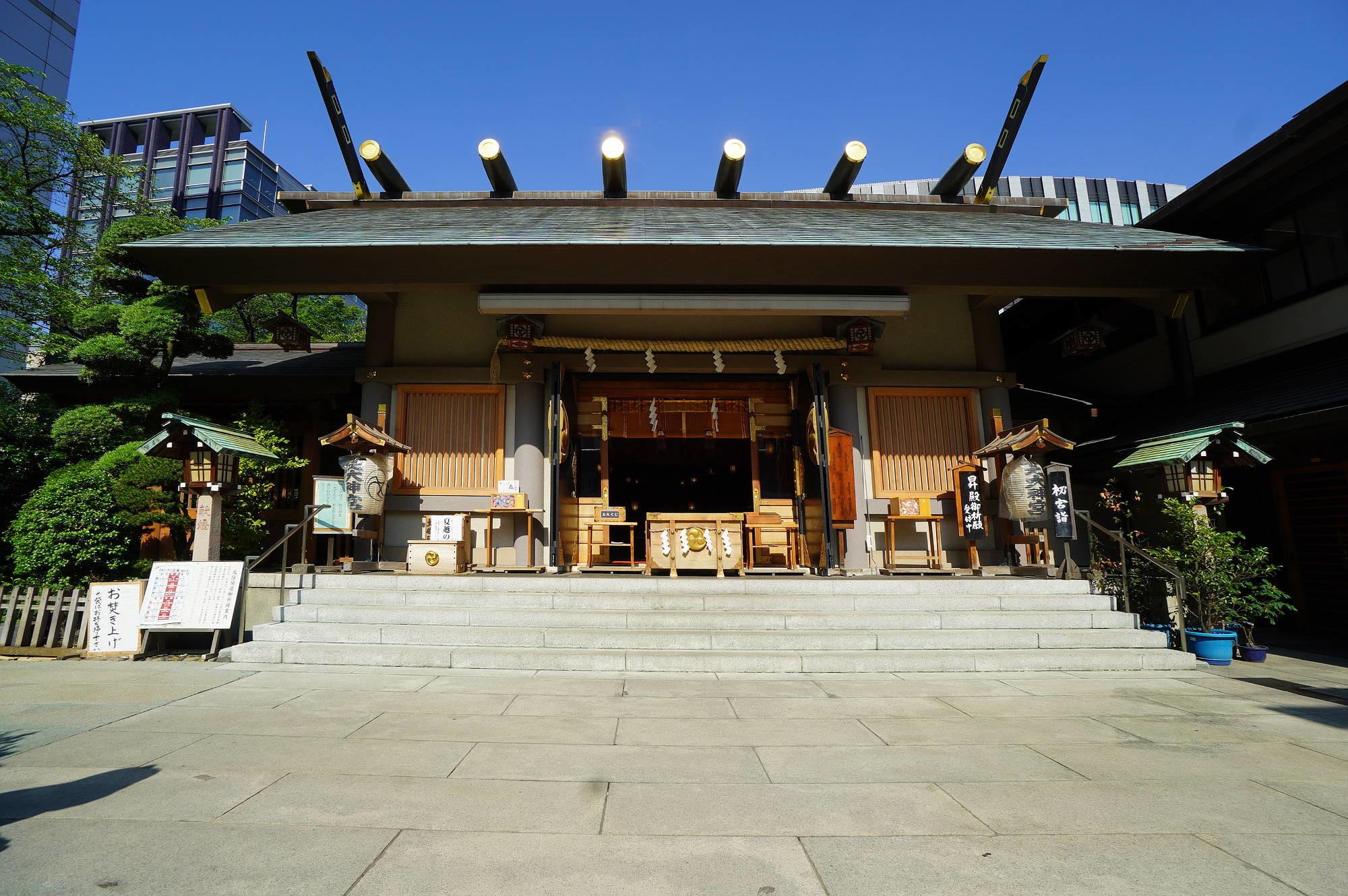 芝大神宮の拝殿