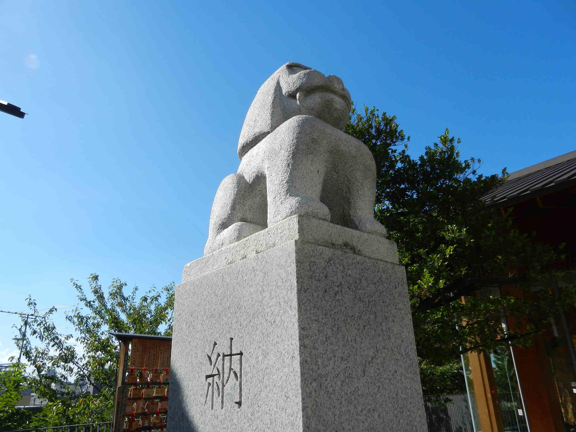 赤城神社の狛犬様 白山狛犬