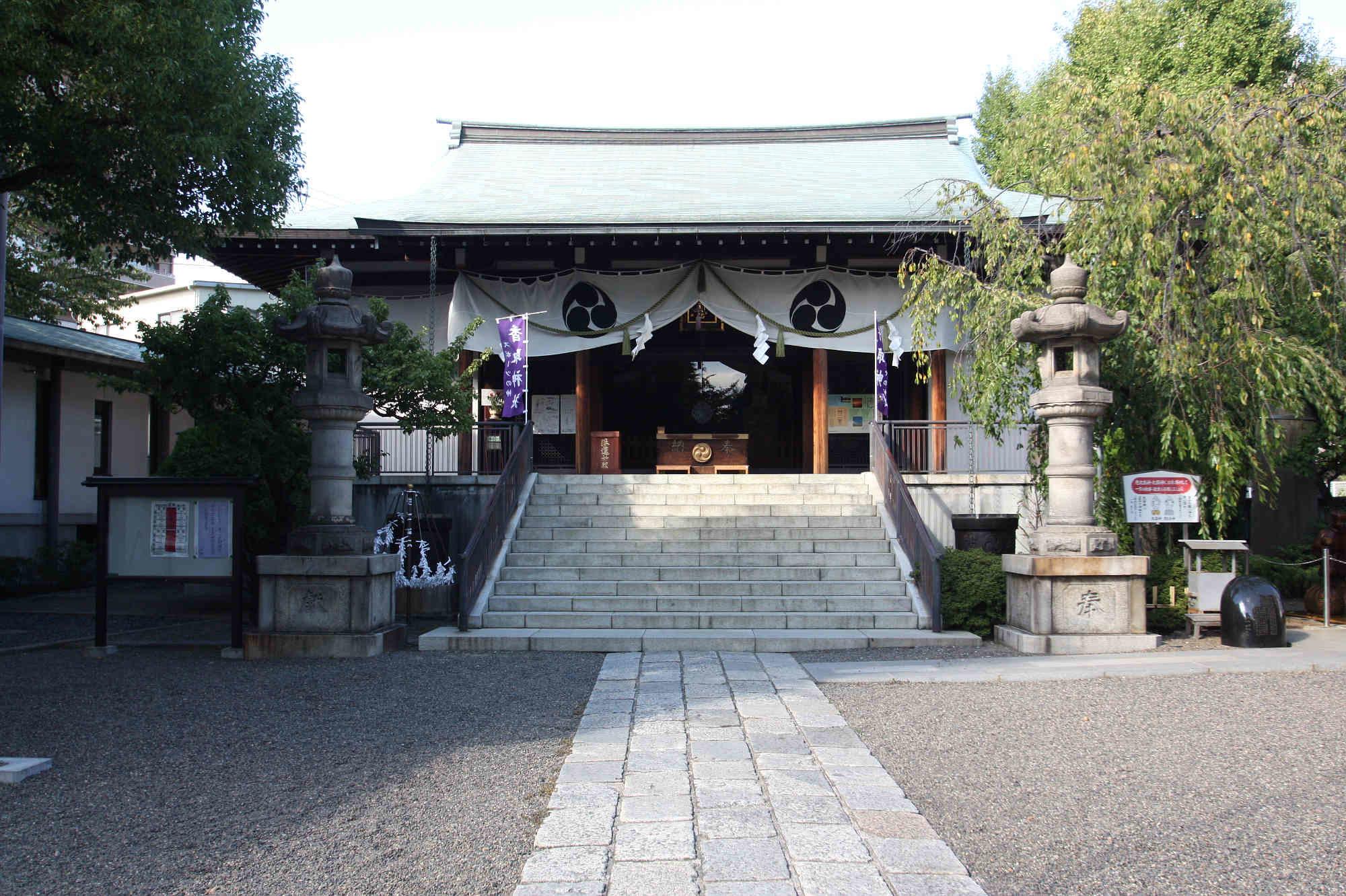 亀戸香取神社の御神殿(拝殿)