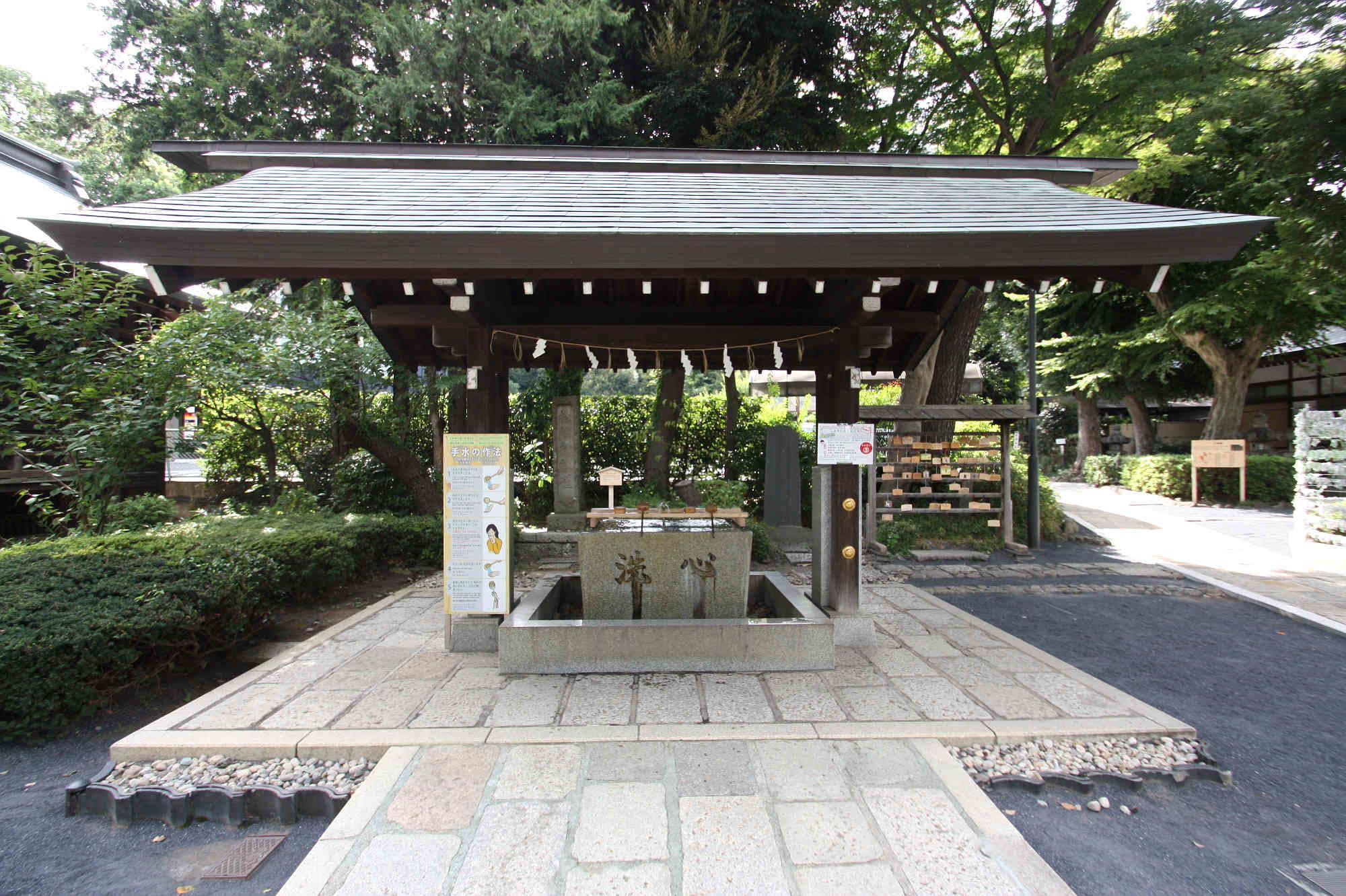 松陰神社の手水舎
