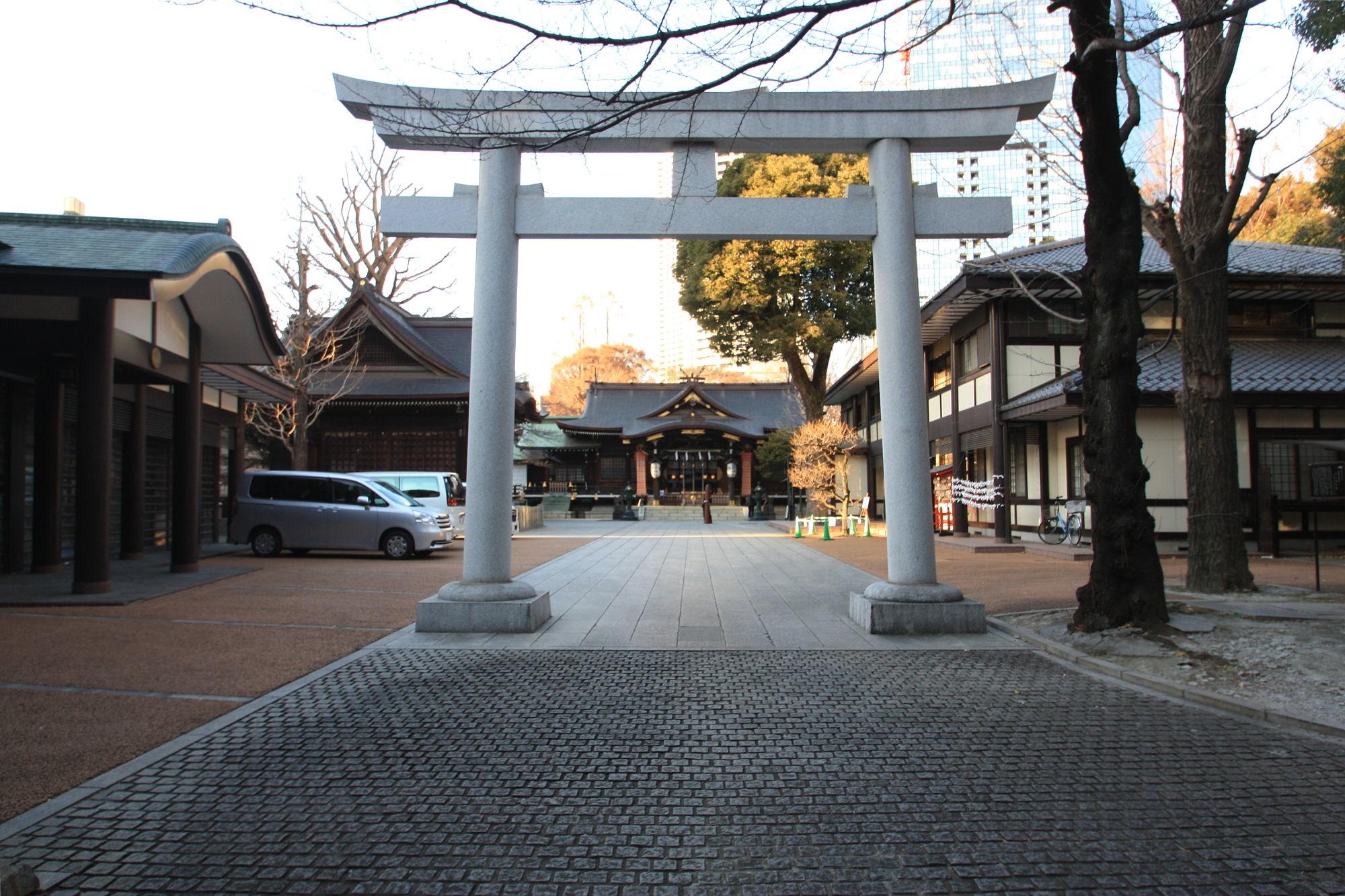 新宿十二社 熊野神社の鳥居