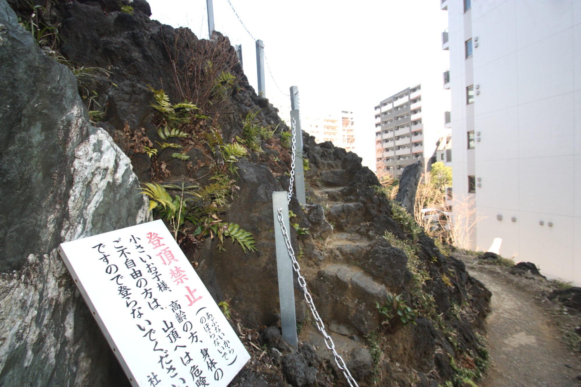 富士塚の登山道