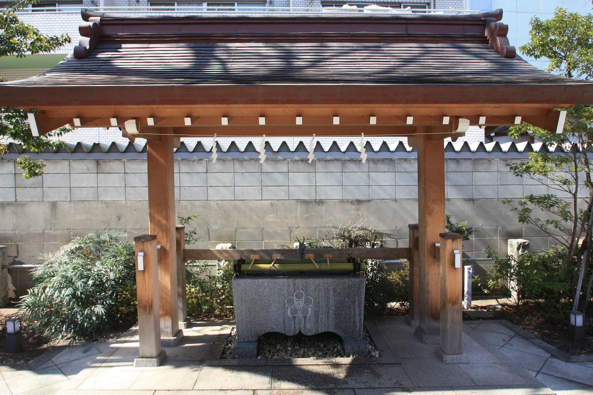 成子天神社の手水舎