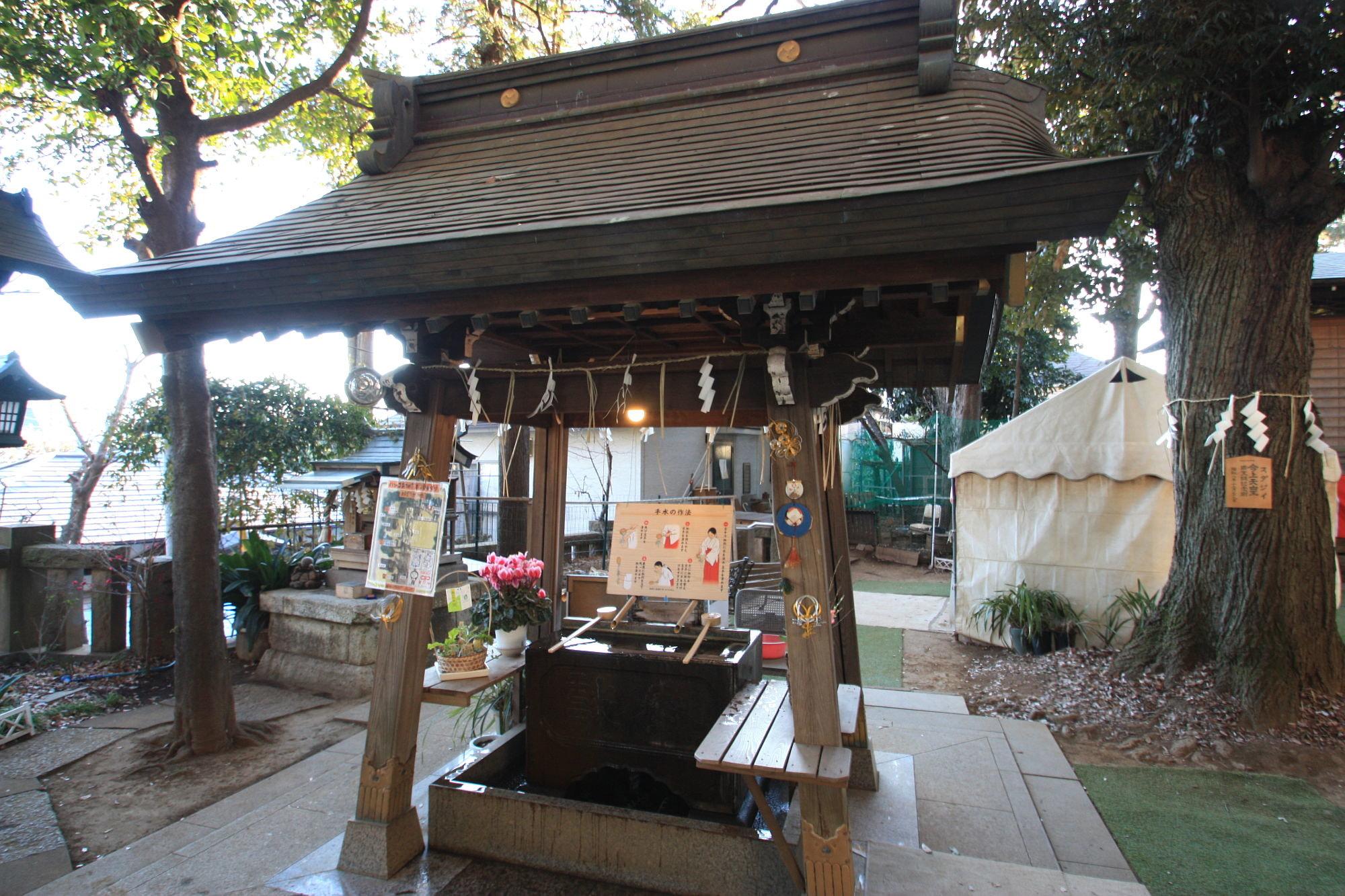 太子堂八幡神社の手水舎