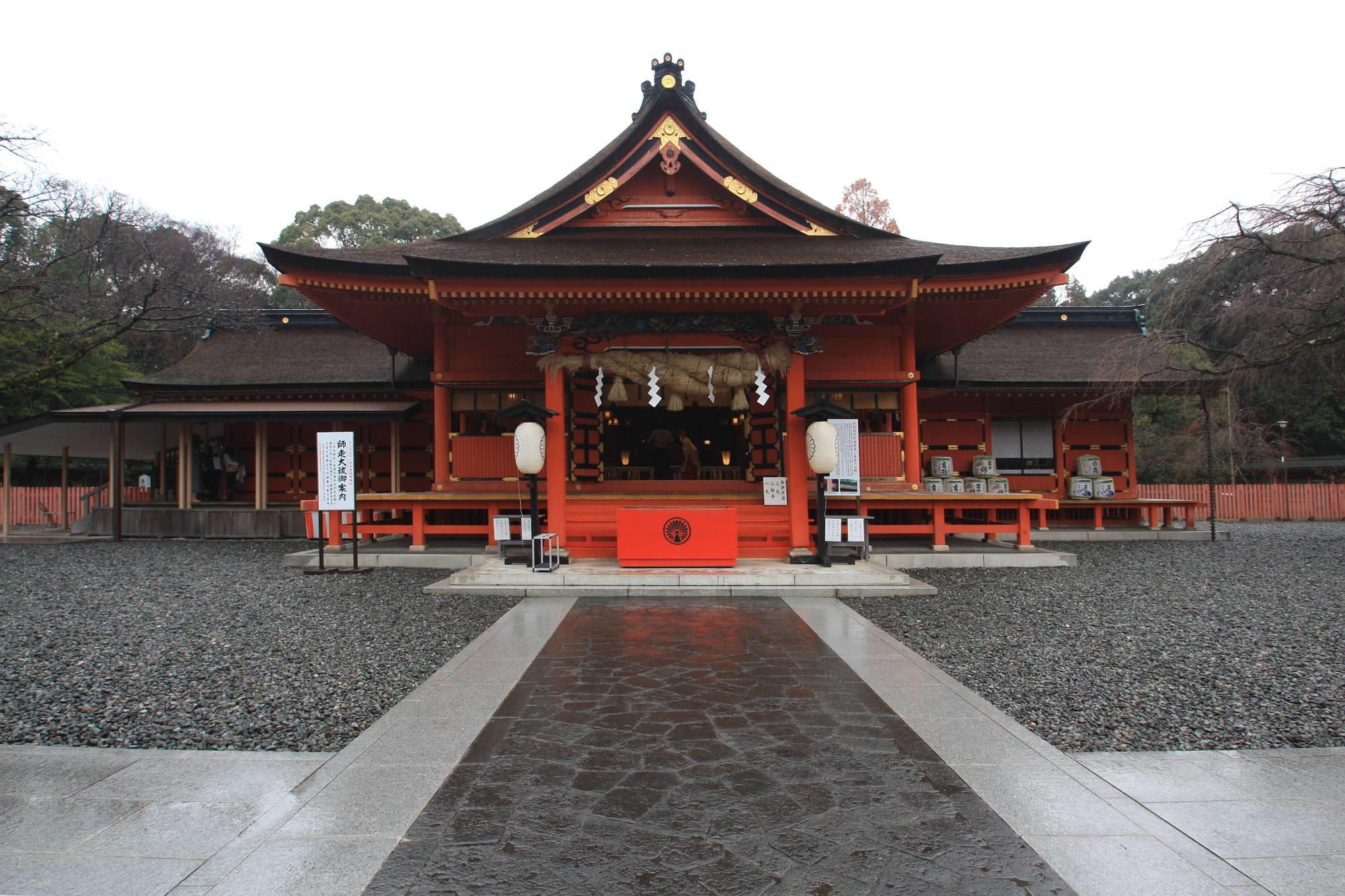 富士山本宮浅間大社の拝殿(本殿)