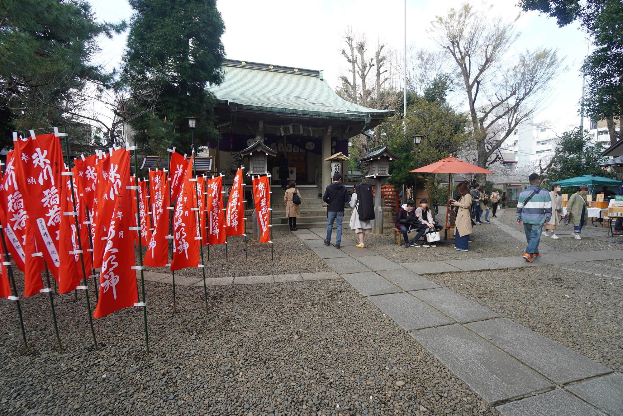 上目黒氷川神社の境内