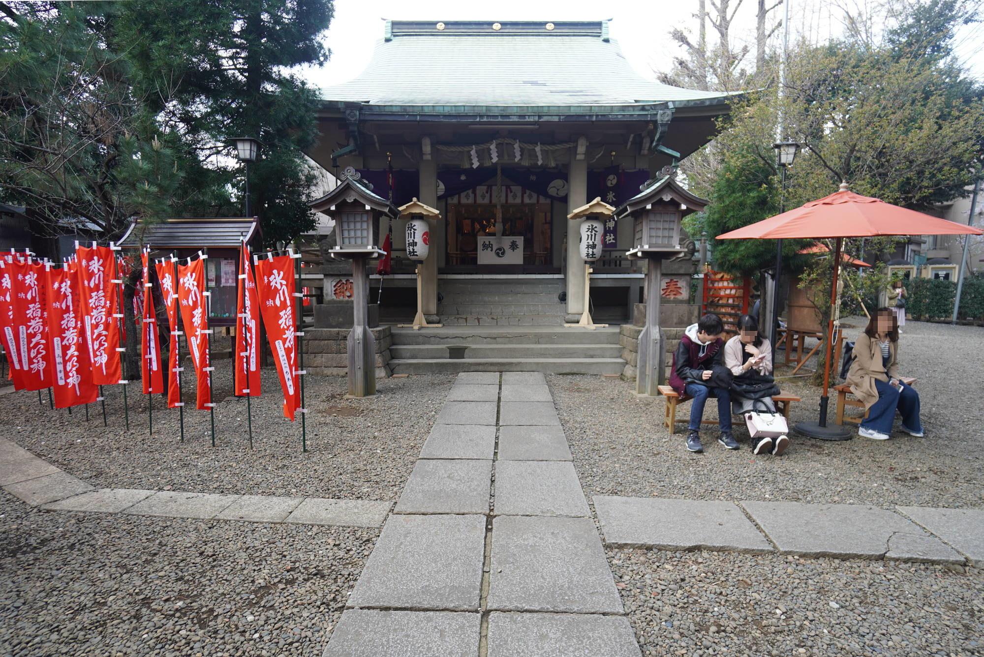 上目黒氷川神社 社殿前