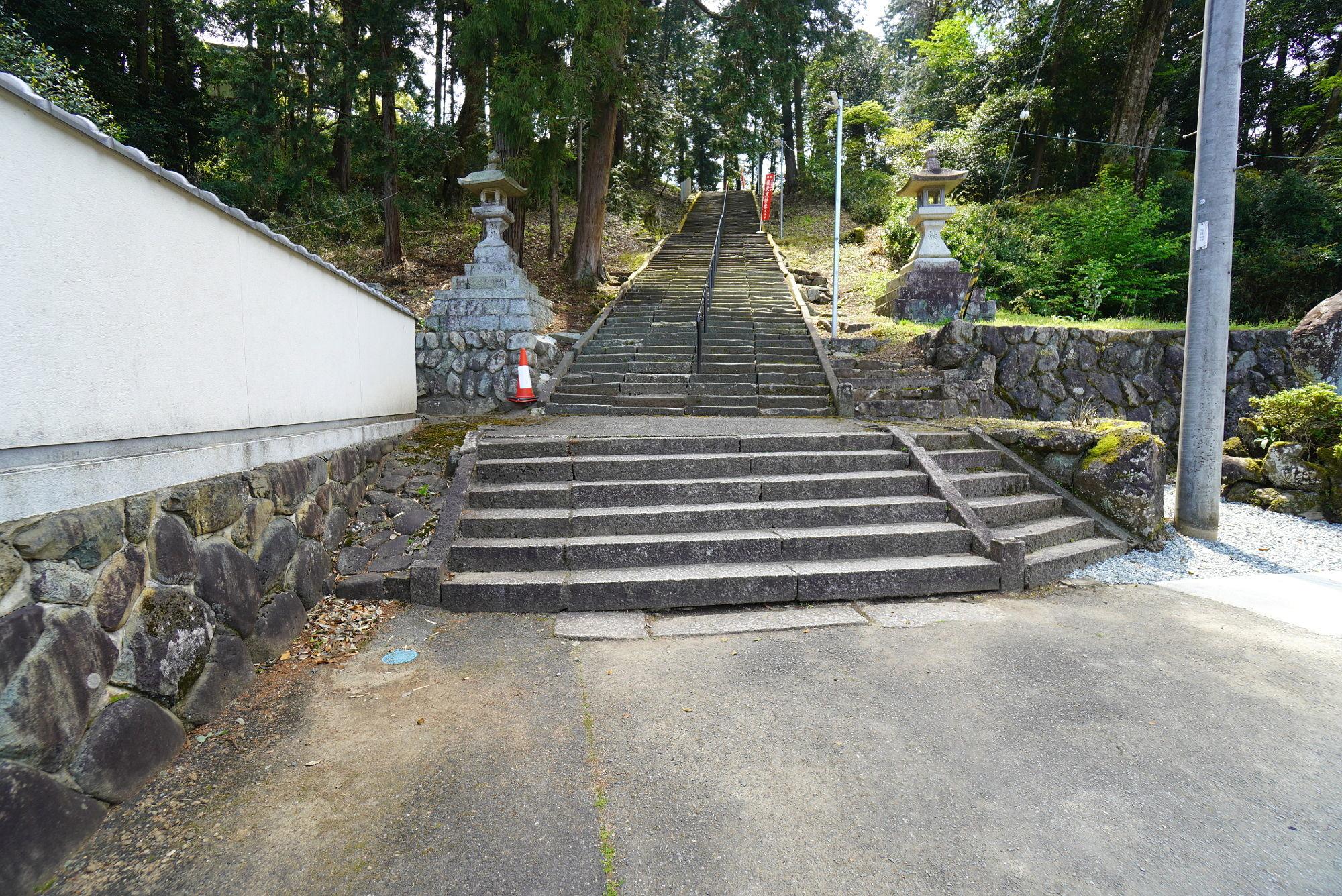 豊受大神社の階段