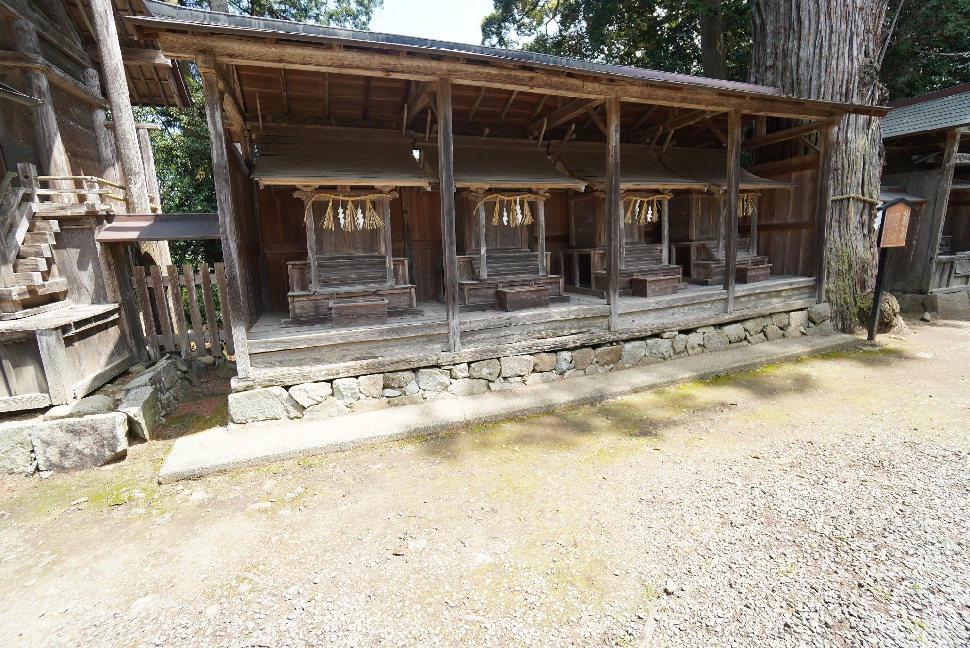 豊受大神社の多くの末社