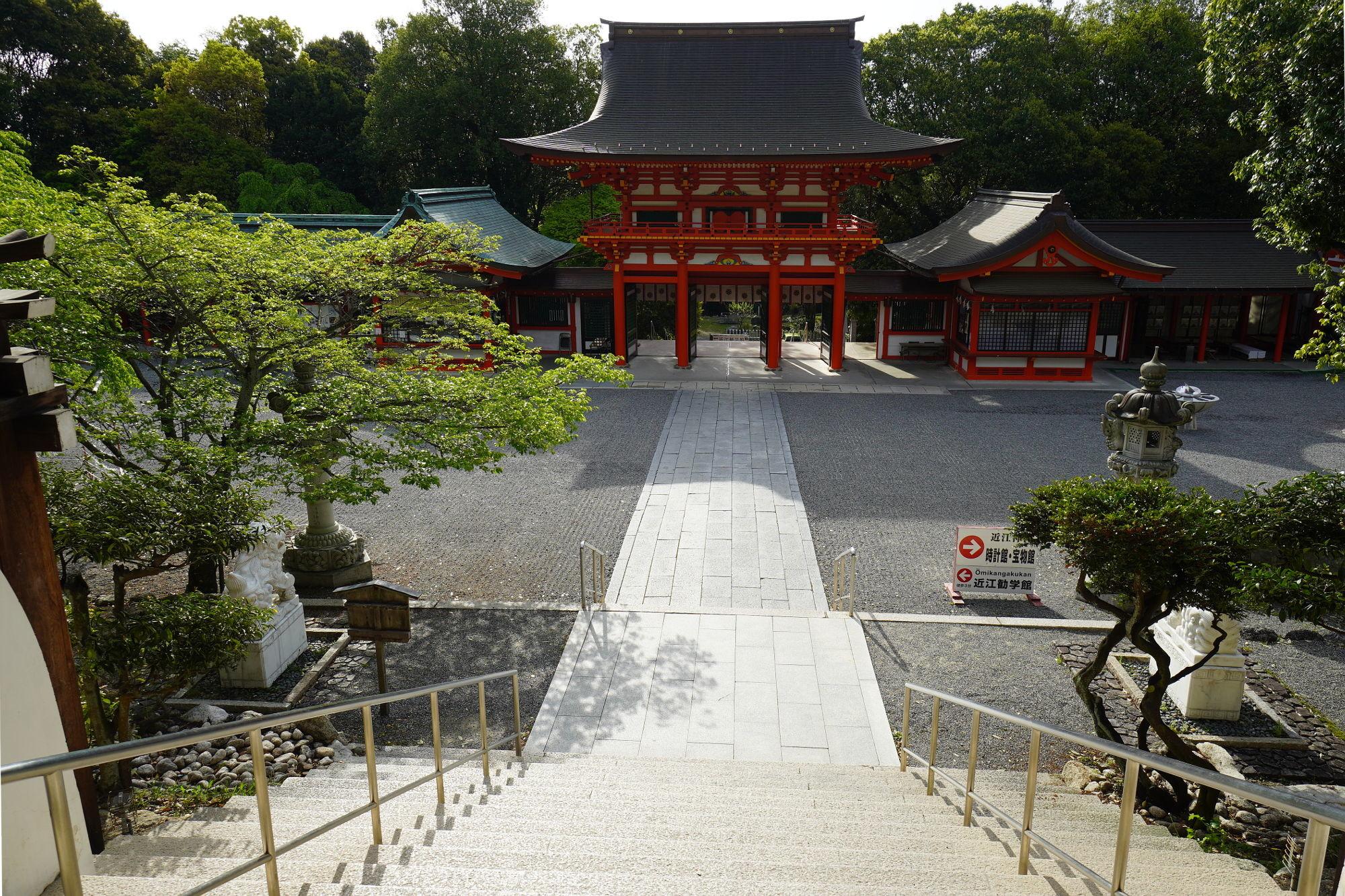 内拝殿からの景色