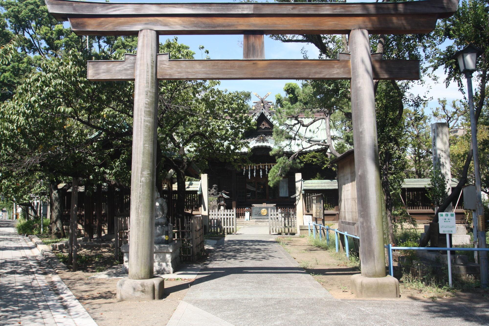 荏原神社の鳥居